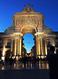 Arco de Rua Augusta Stock Photos