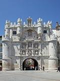 Arco de Santa María en Burgos imagenes de archivo