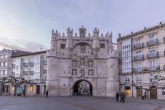 Arco De Santa Maria Burgos obraz royalty free