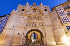 Arco de Santa Maria in Burgos. Burgos, Castile and Leon, Spain Royalty Free Stock Image