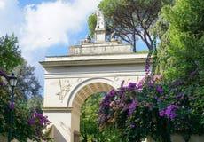 Arco de Septimius Severus na casa de campo Borghese Imagens de Stock Royalty Free