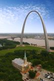 Arco de St Louis - Jefferson Fotografia de Stock Royalty Free