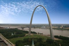 Arco de St. Louis - Jefferson Fotografía de archivo