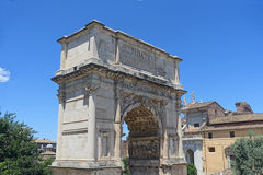 Arco de Titus en Roma Fotos de archivo libres de regalías