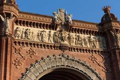 arco de triomf que constrói Barcelona spain fotos de stock royalty free
