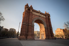 arco de triomf que constrói Barcelona spain fotografia de stock royalty free