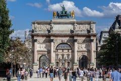 Arco de Triumph del carrusel París Francia Fotografía de archivo