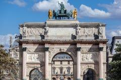 Arco de Triumph del carrusel París Francia Imagen de archivo libre de regalías