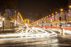 Arco de Triumph e de Champs-Elysees, Paris Imagem de Stock Royalty Free