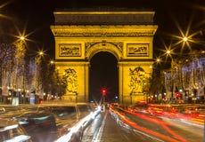 Arco de Triumph e de Champs-Elysees, Paris Foto de Stock