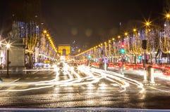 Arco de Triumph e de Champs-Elysees, Paris Imagens de Stock Royalty Free