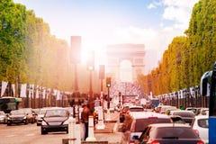Arco de triumph a Parigi Fotografia Stock Libera da Diritti
