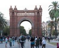 Arco de triunfal Barcelona fotografía de archivo
