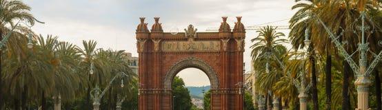 Arco de Triunfo à Barcelone, juin 2018 images stock
