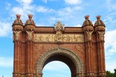 Arco de Triunfo à Barcelone, juin 2018 image libre de droits