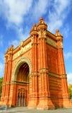 Arco de Triunfo de Βαρκελώνη Στοκ Εικόνες