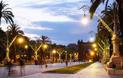 Arco de Triunfo στο θερινό λυκόφως Ισπανία Στοκ εικόνα με δικαίωμα ελεύθερης χρήσης