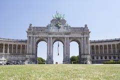 Arco de Trumphal, Bruxelas, Bélgica Foto de Stock Royalty Free