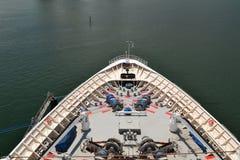 Arco de un barco de cruceros Foto de archivo libre de regalías