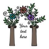 Arco decorativo com flor abstrata Imagem de Stock Royalty Free