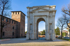 Arco dei Gavi in Verona. Ancient roman gate called Arco dei Gavi situated in Verona Royalty Free Stock Images