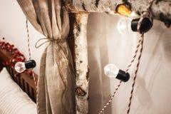 Arco del abedul, bombilla del vintage Abedul de plata doblado adentro para arquear Fotos de archivo