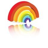 Arco del arco iris Foto de archivo libre de regalías