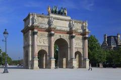 Arco del carrusel del triunfo, París Fotografía de archivo