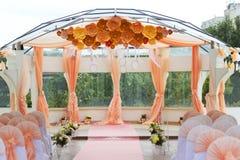 Arco del ceremonial de la boda Foto de archivo