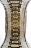 Arco del detalle del triunfo Foto de archivo libre de regalías