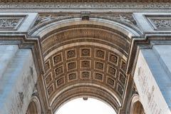 Arco del detalle del triunfo Fotos de archivo libres de regalías