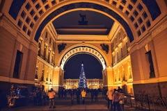 Arco del estado mayor general en St Petersburg, Rusia Imagen de archivo libre de regalías