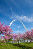 Arco del Gateway de St Louis Fotografía de archivo