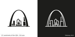 Arco del Gateway en St Louis ilustración del vector