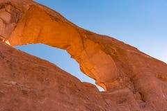 Arco del horizonte en los arcos parque nacional, Utah Imagen de archivo