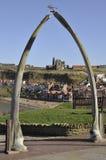 Arco del hueso de la ballena de Whitby Fotografía de archivo