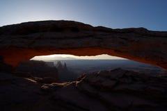 Arco del Mesa en la salida del sol Imagen de archivo