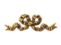 Arco del metal del oro Fotografía de archivo libre de regalías