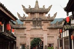 Arco del monumento de la China-castidad de Guangyuan Imágenes de archivo libres de regalías