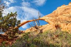 Arco del paesaggio, arché N P l'utah immagini stock libere da diritti