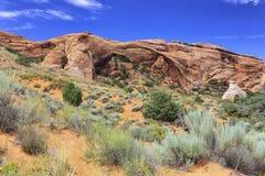Arco del paesaggio, arché parco nazionale, Utah fotografia stock libera da diritti