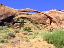 Arco del paisaje en parque nacional de los arcos en Utah Foto de archivo