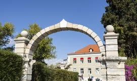 Arco del palazzo di Oeiras Immagine Stock