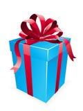 Arco del regalo con l'arco rosso Fotografia Stock Libera da Diritti