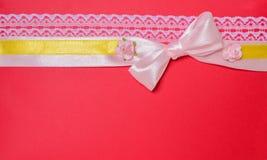 Arco del regalo de la cinta Fotografía de archivo libre de regalías