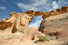 Arco del ron del lecho de un río seco Fotografía de archivo