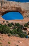Arco del ` s di Wilson nell'Utah fotografie stock