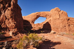 Arco del sud della finestra nel parco nazionale di arché Fotografia Stock