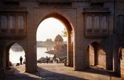 Arco del templo en la India foto de archivo libre de regalías