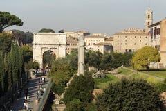 Arco del Tito - tribuna romana fotografia stock